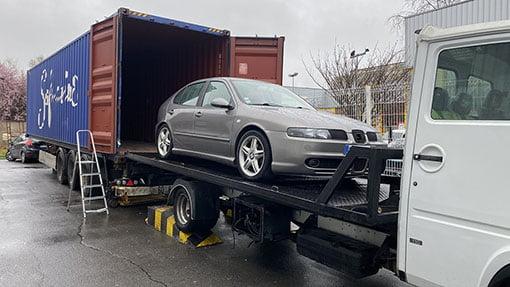 Transport véhicule chargement déménagement maritime - site : https://lucas-outre-mer.fr